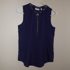 NY&C Purple Tank Top Chain Effect NWT